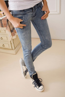 Free shipping 13 spring butt-lifting tight slim pencil pants jeans female skinny pants