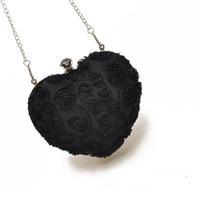H1725 FF Cute Sweet Heart Shaped Chain sweet lolita evening Sling Bag bridesmaid clutch chain sling bag Free shipping wholesale