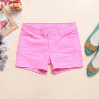 Free shipping Shorts female 100% all-match cotton shorts casual pants plus size shorts mm cotton cloth