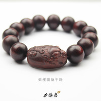 Free Shipping! Lobular Red Sandalwood Beads Lucky Bracelet Male Women Lucky Lovers Bracelets