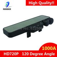 Dropshipping, New Release Rear View Mirror 1000A Dual Camera HD720P Car DVR, 120 degree angle,car vehicle recorder, black box