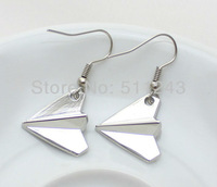 1D One Direction Harry Style Airplane Copper Drop Earrings