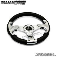 FreeShipping hot General PU material steering wheel automobile race steering wheel refires 512 momo steering wheel 13