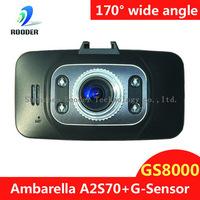 Free Shipping Ambarella GS8000 Car DVR 1080P Full HD Motion Detection Night Vision Wide Angle HDMI 5M Camera 2.7 Inch
