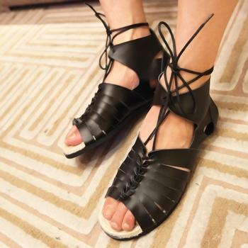 Sandálias de couro de gado sandálias rei Alexandre moda masculina moda sandálias gladiador masculino