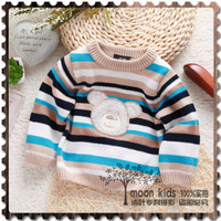 free shipping baby  girls o-neck long-sleeve sweater 100% cotton boys sweater child pullover sweater baby sweater child top