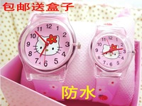 Hello Kitty children Hello Kitty  children Wrist Watch Student watch fashion child watch Men Women waterproof watch aa