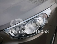 Free shipping 2010-2012 Hyundai ix35 ABS Chrome Front headlight Lamp Cover
