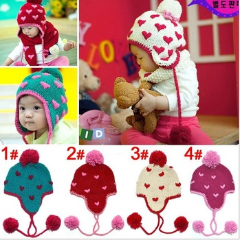 Free shipping Handmade Baby Cap Fashion Crochet Baby Caps Baby Knitted Caps Handmade Lovely Embroidery Baby Hats mz-066