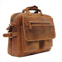 Top Quality  MensVINTAGE HOMME SACOCHE SAC A BANDOULIERE SERVIETTE EN CUIR CARTABLE PORTABLE BAG Genuine Leathen  Free Shipping