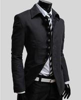 Free shipping/wholesale Hot selling autumn winter men's clothes show slim Korean style coats for men E-40