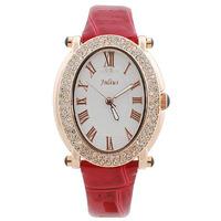 2014 New Women Rhinestone Watches Leather Strap Jelly Dress Wristwatch Retro Women's Quartz Watch Girls Clock JULIUS Brand