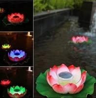 2013 Upgrade Solar Multicolor LED Lotus nightlights Solar lotus floating light Free shipping