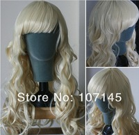 New Arrival!Free Shipping!Women's Beige Color Heat Resistant Synthetic Virgin Hair Cosplay Halloween Wigs,Full Lace Frontal Wigs