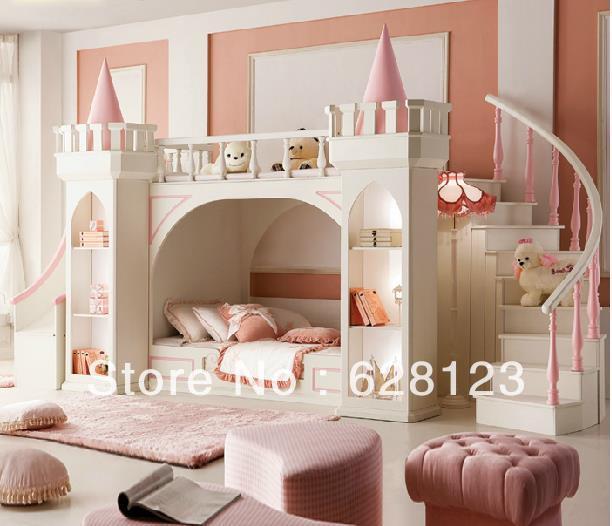 Little Girl Castle Bedroom 612 x 526