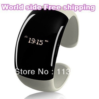 Free ship Ladies Bluetooth Fashion Bracelet with Time Display Call/Distance Vibration Caller ID / Bluetooth Vibrating Bracelet