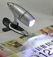 Fast Shipping and wholesale 10pcs/lot Mini Portable Foldable Reading Light Book Clip Lamp LED Flashlight Camp Light