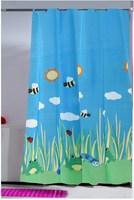 Summer fresh cartoon bee terylene cloth shower curtain waterproof shower curtain 180 200