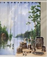Free shipping Mandarin duck terylene fabric waterproof thickening shower curtain 183