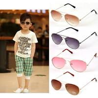 Trendy Baby Boys Girls Kids Sunglasses Metal Frame Child Goggles+Box+Clean Cloth B1202~B1207 Free Shipping