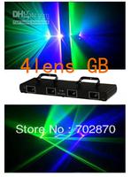 Wholesale - New Popular product! 360mW 4 Lens GB G:60mW+B:300mW Laser DMX512 DJ Disco Party Stage Laser Lighting Lights