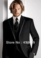 2013 new design black tuxedo wedding suits pictures for men (jacket+waistcoat+trouser)