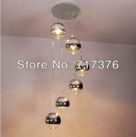 6 Light Bulbs - 15CM Mirror Ball Pendant Lamp Ceiling Lights Chandelier Lighting