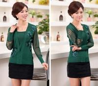 Free Shipping Women Women knitwear sweater,2014  fashion beading mother solid color cashmere sweater women S M L XL XXL XXXL