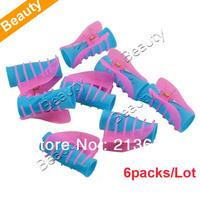 6packs/Lot (12pcs/pack) Wholesale Three Size  DIY Magic Hair Curlers Shark Clip Hair Curler Roller 15728 B_118
