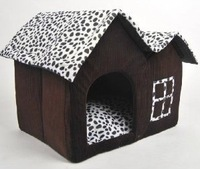 Luxury Design Pet Dog Cat House Cow Bed Home Free Shipping 55*40*42CM