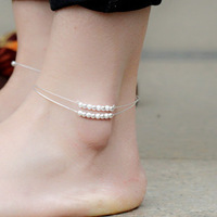 free shipping 925 pure silver anklets female scrub fashion anklets summer accessories hot-selling