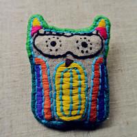 Handmade embroidery fluid jewelry diy fabric necklace brooch dual