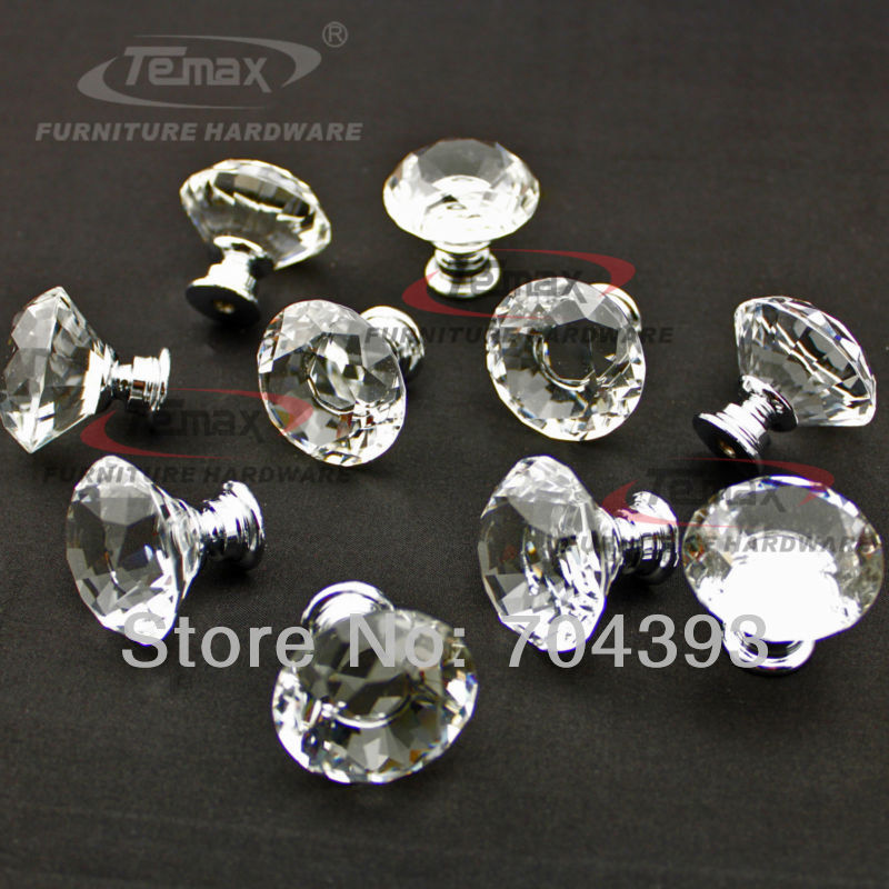 128mm glass crystal acrylic kitchen cabinets knobs and handles dresser