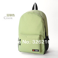 Free Shipping solid color student bag to school bag backpack casual bag