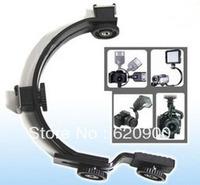 100% GUARANTEE Camera mini DV Camcorder C-Shape Bracket for Flash LED Video light DC DSLR SLR