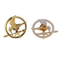 Free shipping  Fashion Women Antique Copper Gold Hunger Game Bird Brooch Pins Wholesale