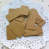 Free shipping 500pcs Retro Standard Gift Handmade soap tag Cardboard DIY Small label clothing label kraft paper blank word cards