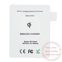 New Qi Standard Wireless charging Receiver for SAMSUNG N7100 Wireless charger for Note2 1000pcs/lot free EMS