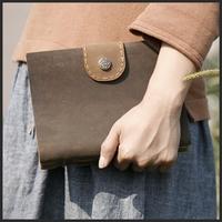 Time hg handmade tsmip cowhide handmade tsmip fashion vintage tsmip genuine leather notepad notebook