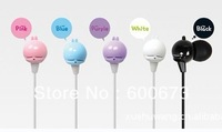Free shipping 5 pcs/lot 3.5mm cartoon lovely cute MashiMaro rabbit in ear earphone headphone earbuds for MP3 mp4 pc cellphone