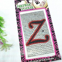 6sheets free shipping wholesale rhinestone sticker acrylic sticker 0130515001(95)