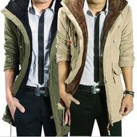 2014  Men's Coat Winter Overcoat  Outwear Custom Fit  3 colors Available Wholesale MWM060