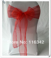 ORGANZA CHAIR SASHES BOW COVER BANQUET Free Shipping Hot