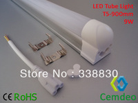 9W 900mm T5 LED Tube Light Non-isolated Power Drivers attached Single-head Wire Fixtures 3Years Warranty Free Shipping 10pcs/lot