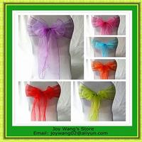 New 200Pcs Organza  Wedding Chair Cover Sashes Bow Party Bridal Decorating  Free Shipping