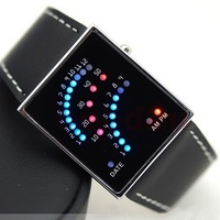 Free Shipping 50pcs/lot New Digital Date Red 29 LED Sport Mens Lady Wrist Watch
