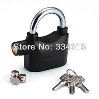 Alarm Lock for Bike Motorcycle Door Gate Bolt Chain Lock Security 110db Siren Alarmed Padlock Free Shipping