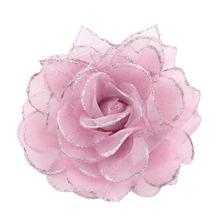 wholesale silk flower brooch