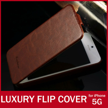 Luxury Crazy Horse Leather Flip Cover For Apple iPhone 5S Case Vintage Fashion Cell Phone Cases For iPhone 5S 5G Holster