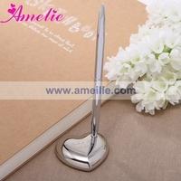 Free Shipping Zinc Alloy Wedding Supplies Silver Color Wedding Accessories Wedding Pen Holder